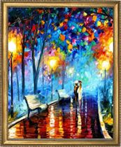 ערב גשום (Leonid Afremov) Art Canvas